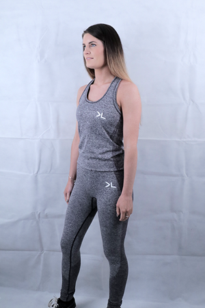 Charcoal Seamless Leggings and Vest Deal