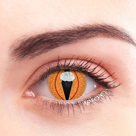 SPSeye Glow Amber Colored Contact Lenses