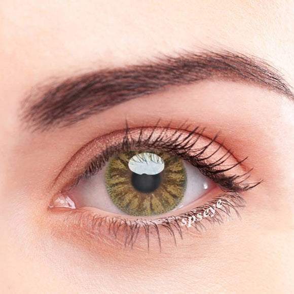 SPSeye Crystal Light Brown Colored Contact Lenses
