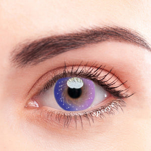 SPSeye Milky Star Purple Colored Contact Lenses