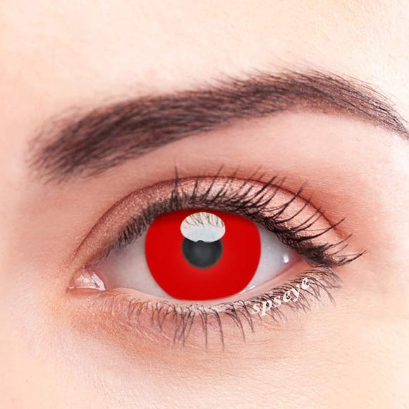 SPSeye Pure Red Colored Contact Lenses