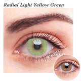 SPSeye Radial Light Yellow-Green Colored Contact Lenses