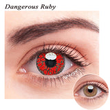 SPSeye Dangerous Ruby Colored Contact Lenses