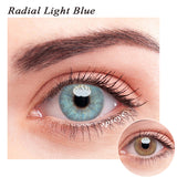 SPSeye Radial Light Blue Colored Contact Lenses