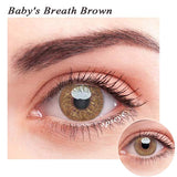 SPSeye Baby's Breath Brown Colored Contact Lenses
