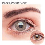 SPSeye Baby's Breath Grey Colored Contact Lenses