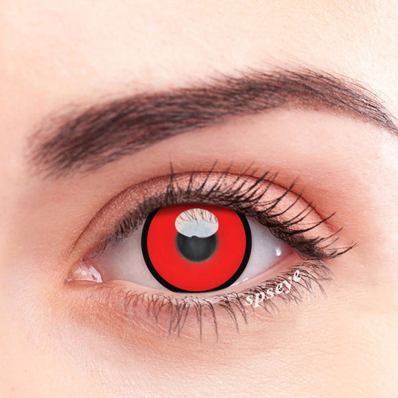 SPSeye Black Circle Red Colored Contact Lenses