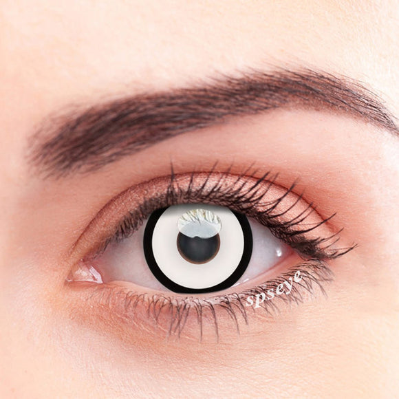 SPSeye Black Circle White Colored Contact Lenses