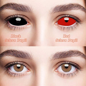 SPSeye Black Sclera Pupil  &  Red Sclera Pupil Colored Contact Lenses
