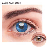 SPSeye Doji Star Blue Colored Contact Lenses