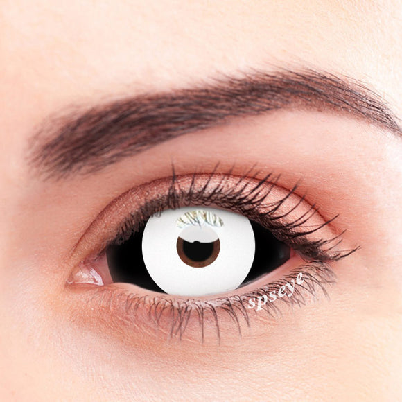 SPSeye Sclera Enamel White Colored Contact Lenses