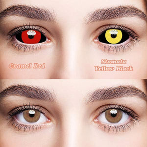 SPSeye Enamel Red & Stomata Yellow Black Colored Contact Lenses