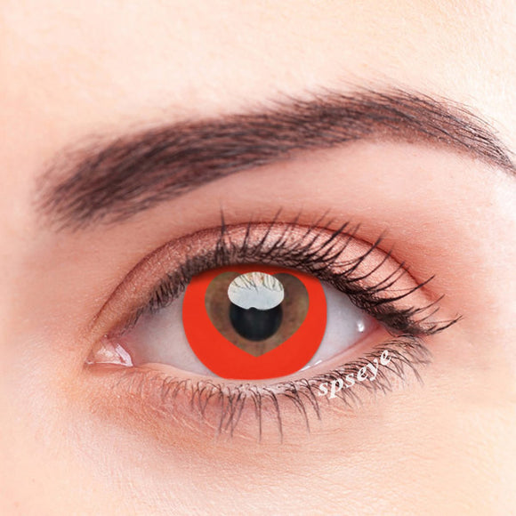 SPSeye Hollow Red Colored Contact Lenses