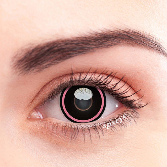 SPSeye Pink Circle Black Colored Contact Lenses