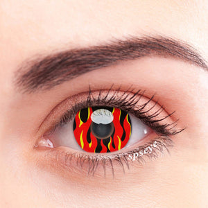 SPSeye Red Flame Colored Contact Lenses