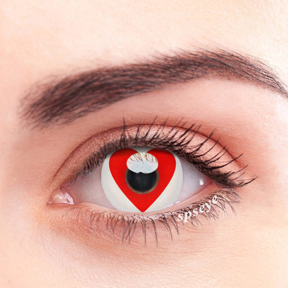 SPSeye Red Heartbeat Colored Contact Lenses