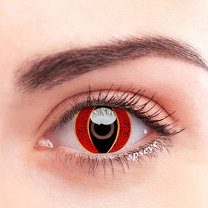 SPSeye Reptile Leopard Red Colored Contact Lenses