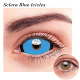 SPSeye Sclera Blue Icicles Colored Contact Lenses