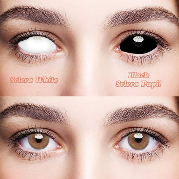 SPSeye Sclera White & Black Sclera Pupil Colored Contact Lenses
