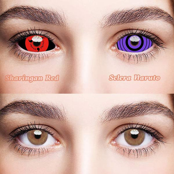 SPSeye Sharingan Red & Sclera Naruto Colored Contact Lenses