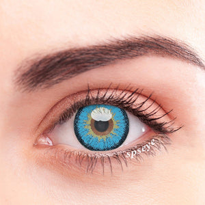 SPSeye Snow Blue Colored Contact Lenses