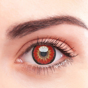 SPSeye Snow Red Colored Contact Lenses
