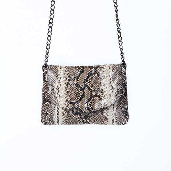 Bolan Envelope Python Clutch Natural Antique