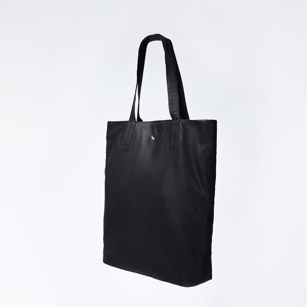 Lennon Large Leather Shopper Black