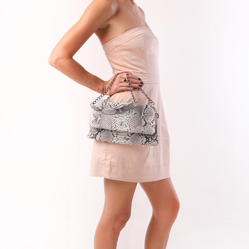 Love Multi Chain Strap Clutch Grey