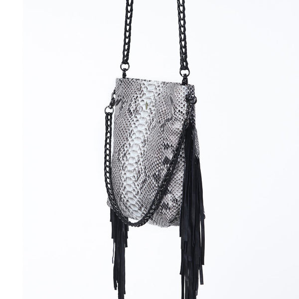 Slash Chain Bag Grey