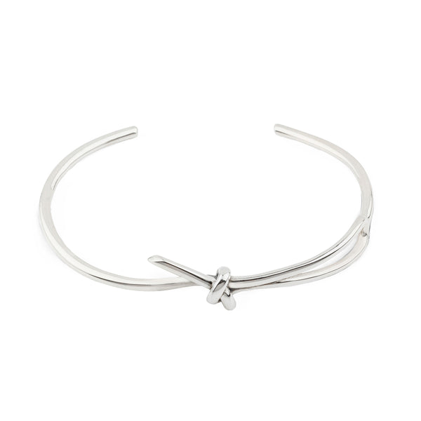 Tie Me Up Solid Silver Bangle