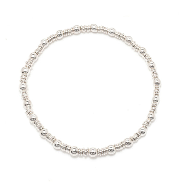 Ball & Chain Silver Stretch Bracelet