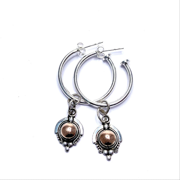 Guardian hoop earrings - 'Charmed'