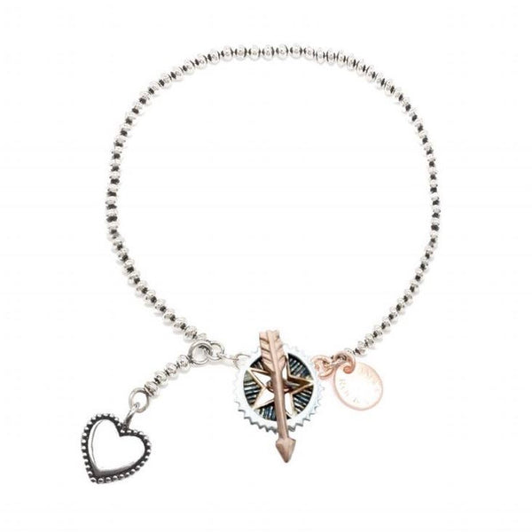 Rock Star Rose Gold and Silver Bracelet