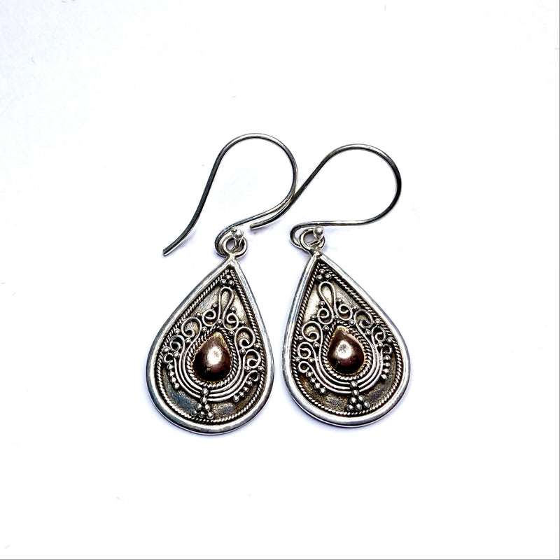 Guardian earrings - 'Ornate Teardrop'