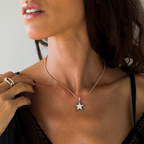 Rock Star Rose Gold and Silver Necklace