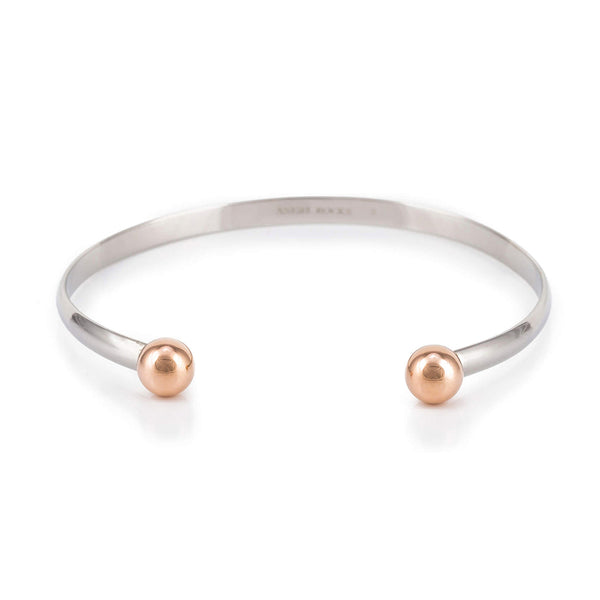 Torque Bangle with golden balls
