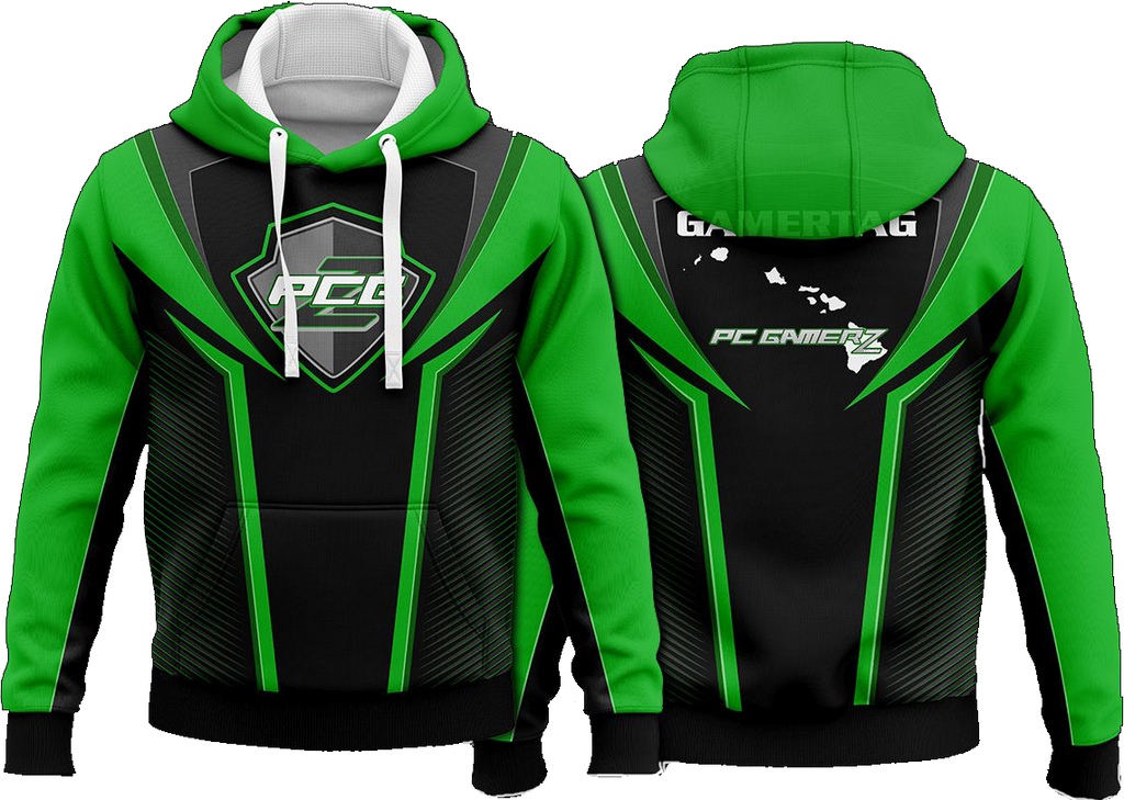 PCGz Green Pull Over Hoodie