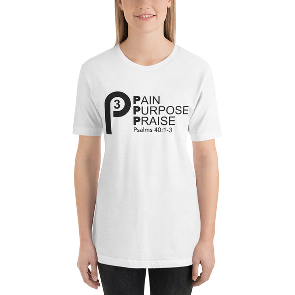 #P3 Pain, Purpose, Praise Unisex Short-Sleeve T-shirt