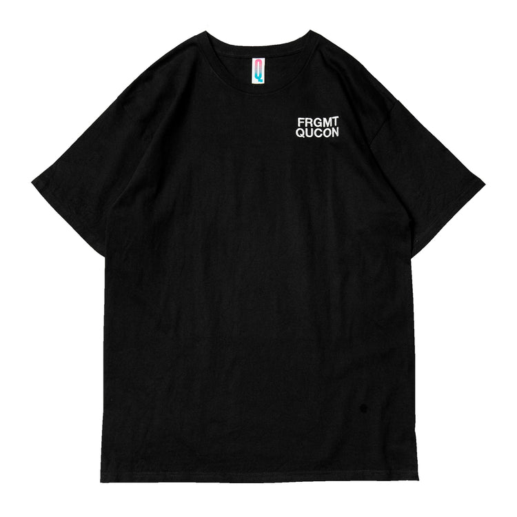 QUCON x FRAGMENT TEE TYPE-02 BLACK