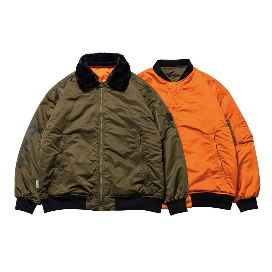 EVISEN  HOT SHOTS! REVERSIBLE FLIGHT JKT