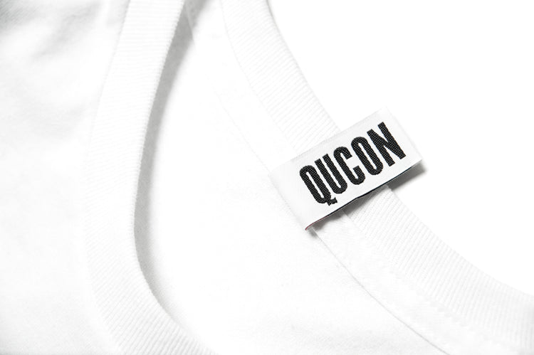 QUCON x FRAGMENT TEE TYPE-01 WHITE