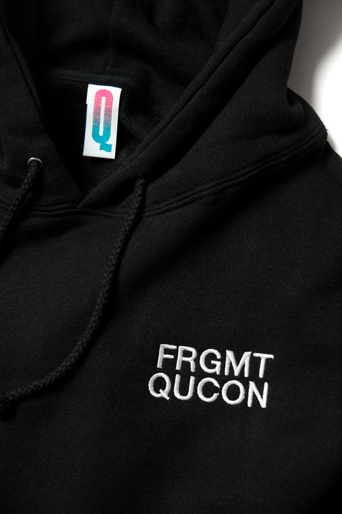 QUCON x FRAGMENT HOODIE TYPE-02 BLACK