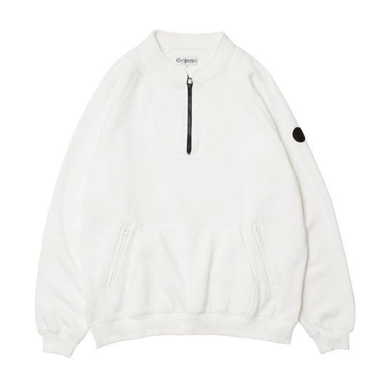 EVISEN  BAND COLLAR ZIP SWEAT