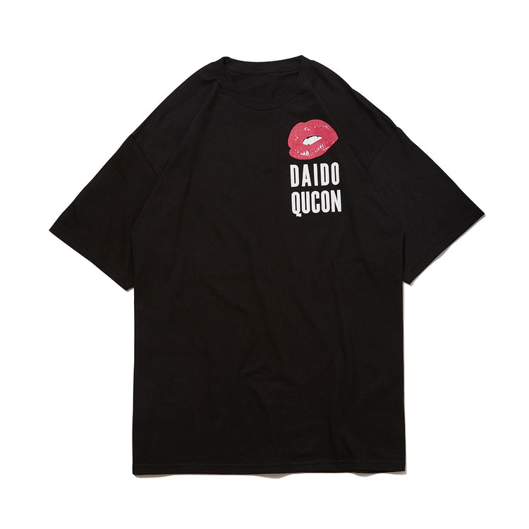 QUCON DAIDO TEE CAT BLACK