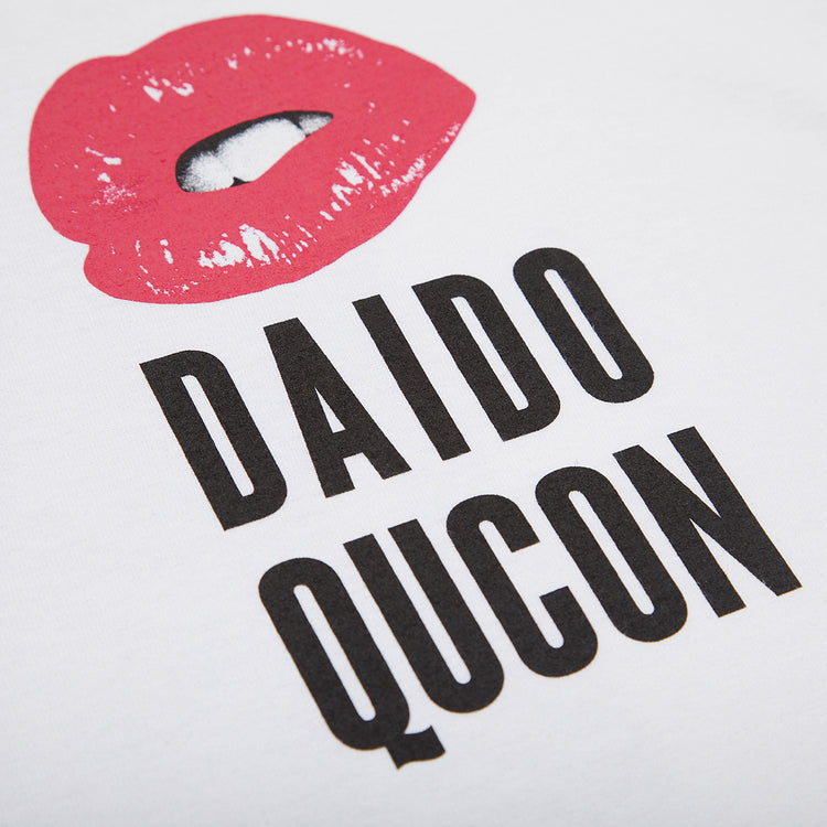 QUCON DAIDO TEE CAT WHITE