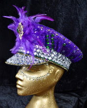 Load image into Gallery viewer, Deep Purple Festival Hat - JewelBritanniaHats