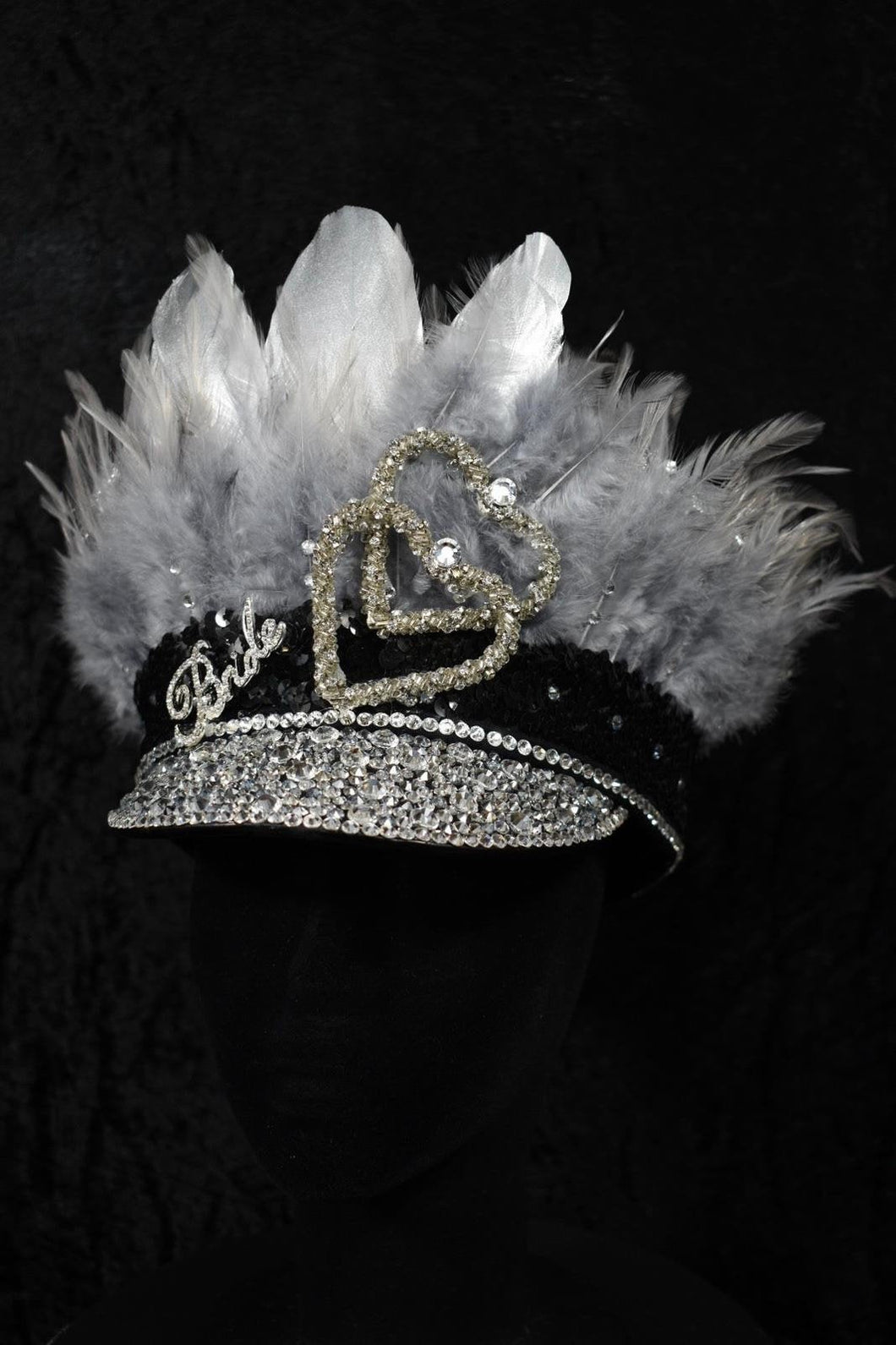 Shades of Silver Hen Party Hat - JewelBritanniaHats