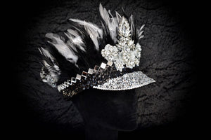 Fade to Grey Festival Hat - JewelBritanniaHats