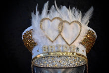 Load image into Gallery viewer, White Gold Hen Party Hat - JewelBritanniaHats